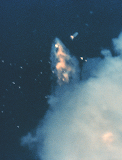 GOES G's explosive end 91 seconds after launch as Range Safety destroys the Delta launch vehicle,NOAA Photo Library 19860503-GOES-G-destroyed.jpg